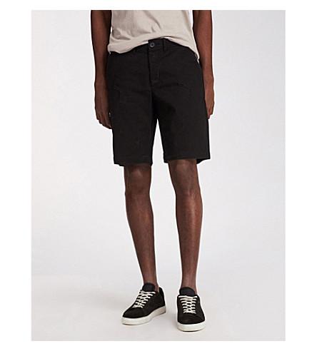 ALLSAINTS Bora slim-fit cotton shorts (Black