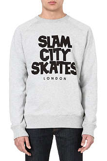 SLAM CITY SKATES London crew-neck sweatshirt