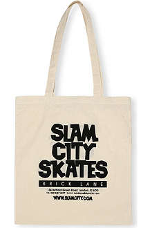 SLAM CITY SKATES Logo-print tote bag