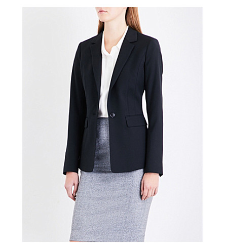 REISS Huxley wool-blend jacket (Black