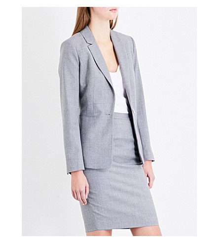 REISS Austin wool jacket (Grey