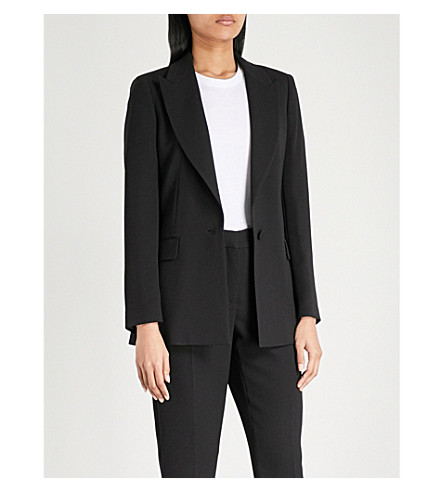 REISS Roza crepe jacket (Black