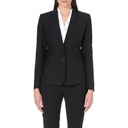 REISS Sorrento-slim-fit blazer (Black/white
