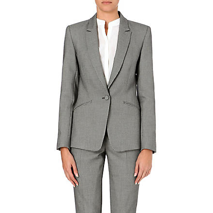 REISS Millie slim-fit tailored blazer (Grey