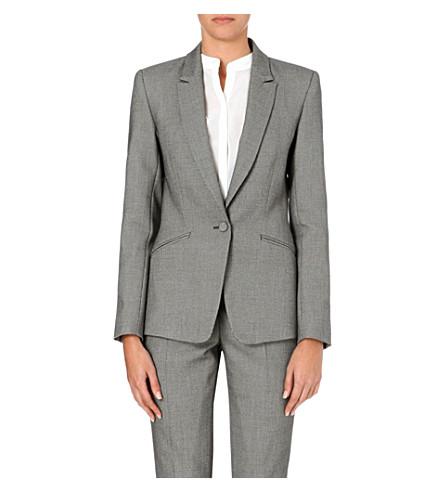 REISS Millie slim-fit tailored blazer (Grey