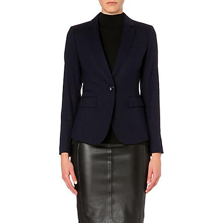 REISS Theo tailored pocket blazer (Navy