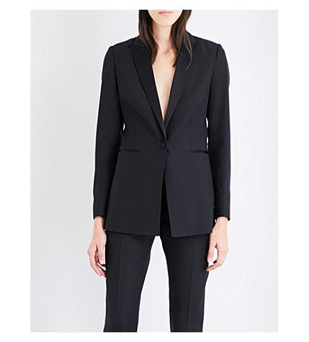 REISS Rockie satin-lapel wool jacket (Black