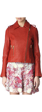 REISS Maya leather jacket