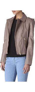 REISS Kara leather jacket