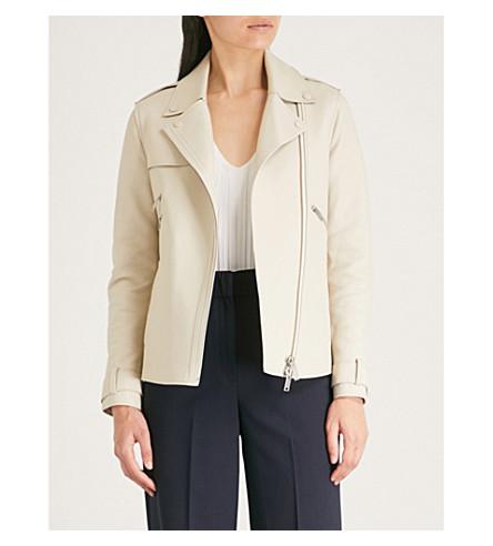 Sahara oversized leather jacket