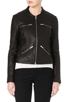 REISS Opal leather jacket