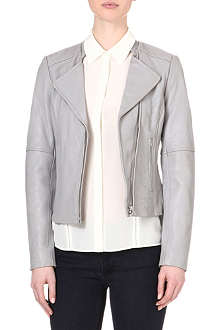 REISS Jenn leather biker jacket