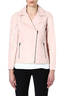 REISS Fray leather jacket