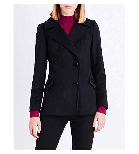 REISS Lillie wool-blend jacket (Black