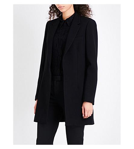REISS Vien single-breasted crepe blazer (Black