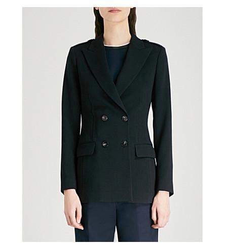 REISS Ethelia tailored-fit stretch-wool blazer (Night+navy