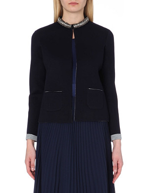 REISS Flame jersey jacket