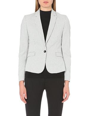 REISS Sullivan check-print blazer