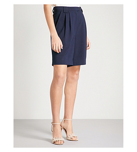 REISS Linetti crepe shorts (Night+navy