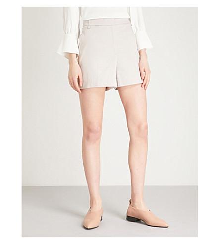 REISS Ottolie high-rise stretch-cotton shorts (Chiffon