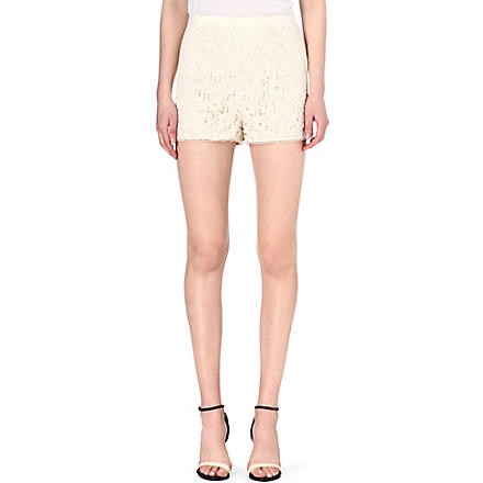 REISS Dale crochet-lace shorts (Cream