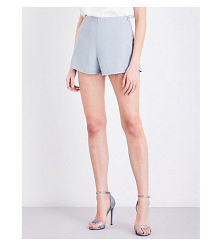 REISS Blina crepe shorts (Silver+flint