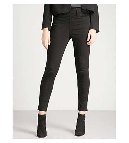 REISS Hedy skinny mid-rise jeans (Black