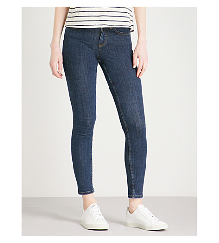 REISS Stevie skinny mid-rise jeans (Light+indigo