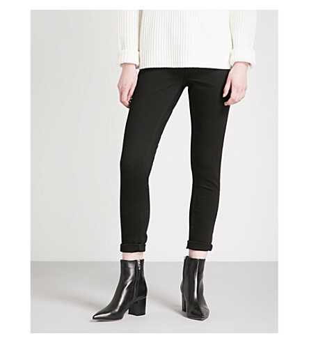 REISS Stevie low-rise skinny jeans (Black