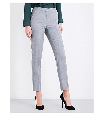 REISS Austin tailored-fit wool trousers (Grey
