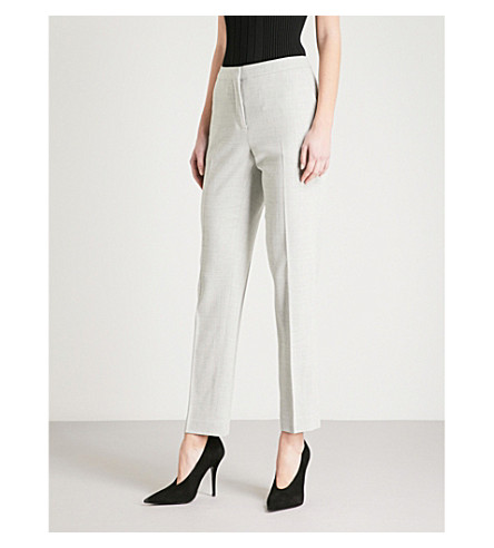 REISS Haven tailored-fit stretch-wool trousers (Grey