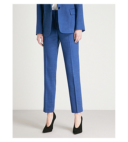 REISS Malani tailored-fit stretch-wool trousers (Bright+blue
