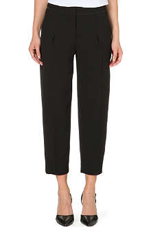 REISS Gillian pleated cropped trousers