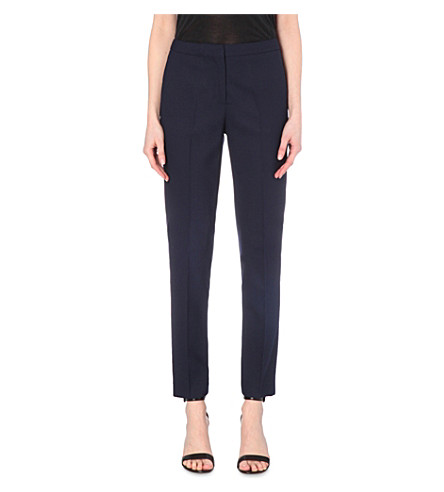 REISS Delo slim-fit tapered wool-blend trousers (Night+navy