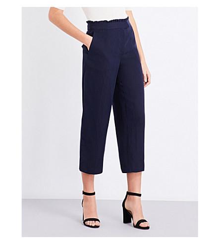 REISS Launi straight-leg woven trousers (Night+navy