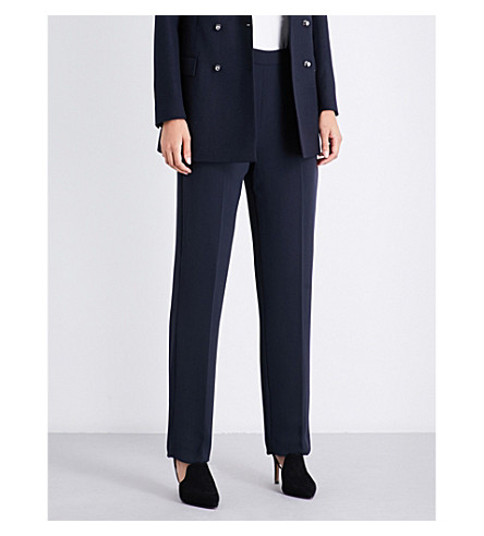 REISS Asta wide-leg crepe trousers (Night+navy