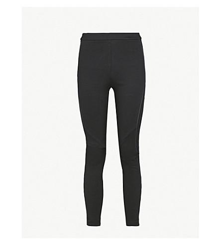 REISS Tessa skinny stretch-jersey trousers (Black