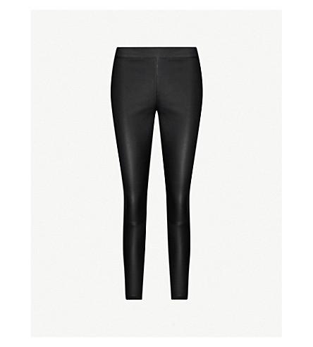 REISS Goldie leather leggings (Black