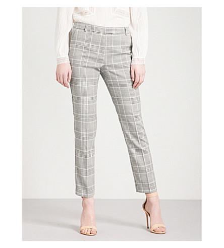 REISS Joanne woven trousers (Black/white