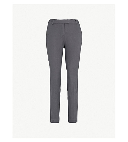 REISS Joanne tailored-fit mid-rise woven trousers (Granite