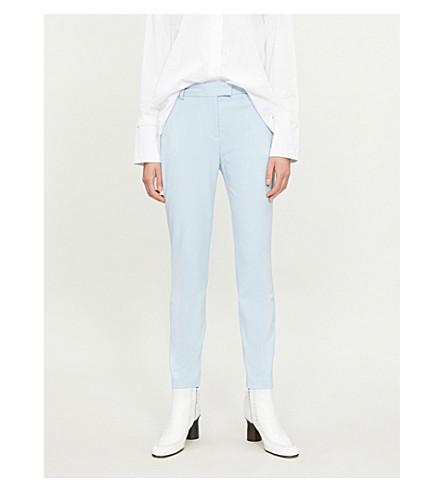 REISS 乔安妮紧身梭织裤子 (中国 + 蓝色