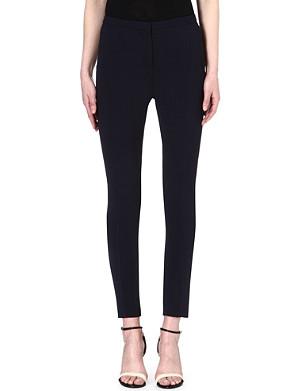 REISS Skinny crepe trousers