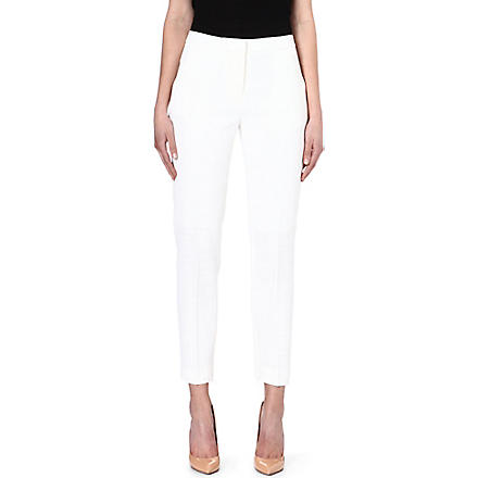 REISS Paris slim-leg trousers (Cream