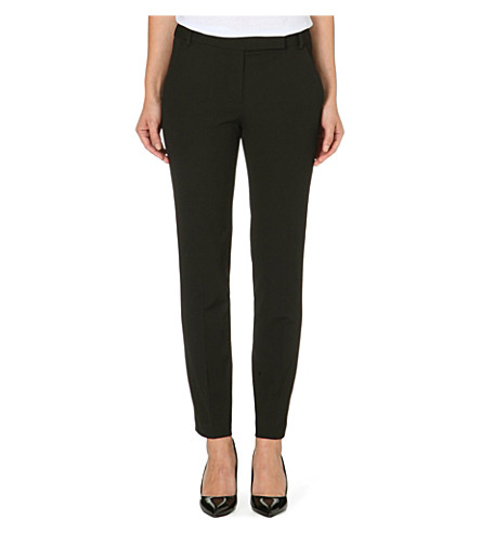 REISS Joanne straight tailored trousers (Black