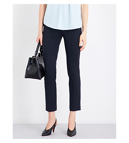 REISS Joanne stretch-crepe trousers (Navy