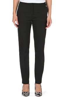 REISS Londra straight cotton-blend trousers