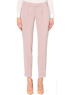 REISS Mora smart tapered stretch-crepe trousers