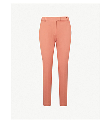 REISS Joanne cropped woven trousers (Auburn