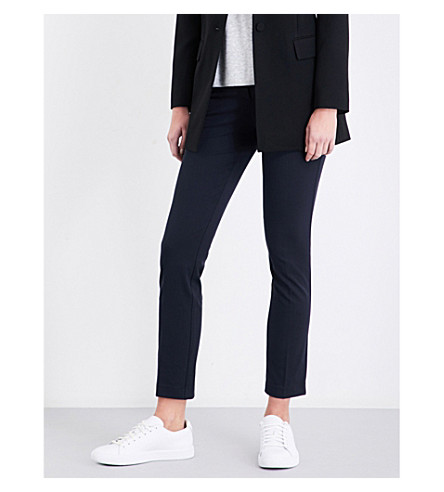 trousers REISS Joanne Joanne trousers cropped woven cropped REISS Navy woven PwApXq8