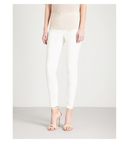 REISS Darlas-skinny mid-rise trousers (Off+white